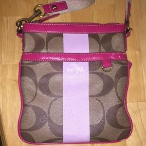 Coach Pink Crossbody Monogram Bag